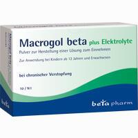 Abbildung von Macrogol Beta Plus Elektrolyte Pulver  10 Stück