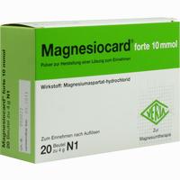 Magnesiocard Forte 10 Mmol  Pulver 20 Stück