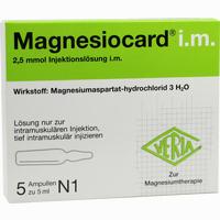 Magnesiocard Im  Ampullen 5X5 ml