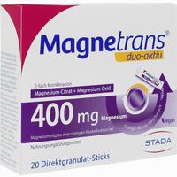 Abbildung von Magnetrans Duo- Aktiv 400mg Granulat 20 Stück