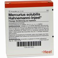 Mercurius Sol Hahn Inj  Ampullen 10 Stück