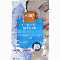 Merz Spezial Reinigende Maske Weiße Tonerde&zink  Gesichtsmaske 2X7.5 ml
