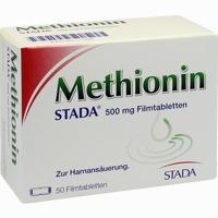 Methionin Stada 500mg  Filmtabletten 50 Stück