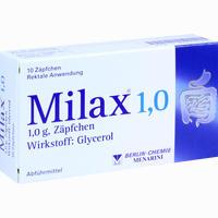 Abbildung von Milax 1.0 Zäpfchen 10 Stück