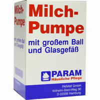 Milchpumpe Glas Gross Ball  1 Stück