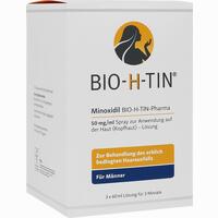 Abbildung von Minoxidil Bio- H- Tin Pharma 50mg/ml Lösung  3 x 60 ml