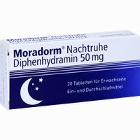 Moradorm Nachtruhe Diphenhydramin 50mg  Tabletten 20 ST
