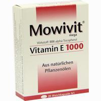 Abbildung von Mowivit Vitamin E 1000 Kapseln 20 Stück