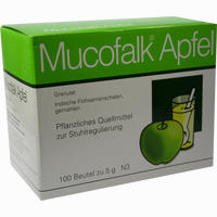 Mucofalk Apfel Btl  Granulat 100 Stück