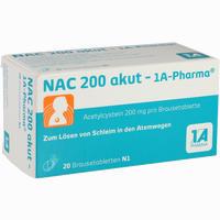 Abbildung von Nac 200 Akut- 1a- Pharma Brausetabletten 20 Stück