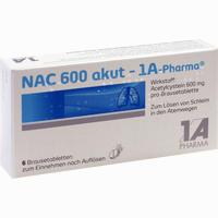 Abbildung von Nac 600 Akut- 1a- Pharma Brausetabletten 6 Stück