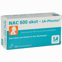 Nac 600 Akut-1a-Pharma Brausetabletten 10 Stück