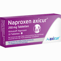 Abbildung von Naproxen Axicur 250 Mg Tabletten  Axicorp pharma 10 Stück