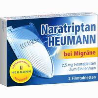Naratriptan Heumann Bei Migräne 2.5 Mg Filmtabletten  2 Stück