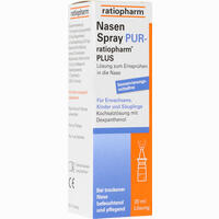 Abbildung von Nasenspray Pur- Ratiopharm Plus Nasendosierspray 20 ml