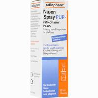 Nasenspray Pur-ratiopharm Plus  Nasendosierspray 20 ml