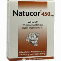 Abbildung von Natucor 450mg Filmtabletten 20 Stück