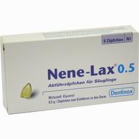 Abbildung von Nene- Lax 0.5 Abführzäpfchen für Säuglinge Säuglingszäpfchen 6 Stück