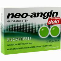 Abbildung von Neo- Angin Benzocain Dolo Zuckerfreie Halstabletten Lutschtabletten 24 Stück