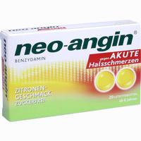 Abbildung von Neo- Angin Benzydamin gegen Akute Halsschmerzen Zitrone Lutschtabletten 20 Stück