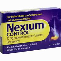 Abbildung von Nexium Control 20mg Tabletten 7 Stück