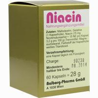 Niacin  Kapseln Aalborg pharma 60 Stück