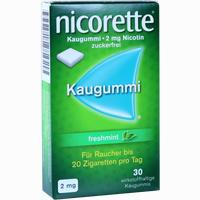 Abbildung von Nicorette Freshmint Kaugummi 2mg  30 Stück