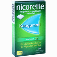 Abbildung von Nicorette Freshmint Kaugummi 4mg  30 Stück