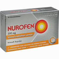 Abbildung von Nurofen 200 Mg Schmelztabletten Lemon  24 Stück