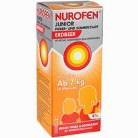Abbildung von Nurofen Junior Fieber- und Schmerzsaft Erdbeer 40mg/ml Suspension  100 ml