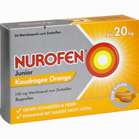 Abbildung von Nurofen Junior Kaudragee Orange 24 Stück
