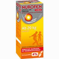 Abbildung von Nurofen Schmerz- und Fiebersaft Erdbeer 40mg/ml Suspension  150 ml