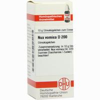 Nux Vomica D200  Globuli Dhu-arzneimittel 10 g