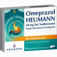 Omeprazol Heumann 20mg Bei Sodbrennen Magensaftresistente Hartkapseln  14 ST