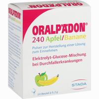 Abbildung von Oralpädon 240 Apfel- Banane Pulver 10 Stück