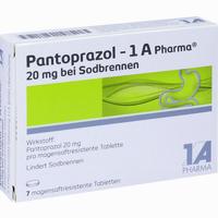 Abbildung von Pantoprazol- 1a Pharma 20mg bei Sodbrennen Tabletten 7 Stück
