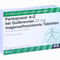 Abbildung von Pantoprazol Abz bei Sodbrennen 20 Mg Magensaftresistente Tabletten 7 Stück