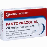 Abbildung von Pantoprazol Al 20mg bei Sodbrennen Tabletten 7 Stück