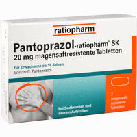 Abbildung von Pantoprazol- Ratiopharm Sk 20mg Magensaftresistene Tabletten  7 Stück