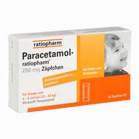 Abbildung von Paracetamol- Ratiopharm 250 Mg Zäpfchen 10 Stück