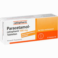 Abbildung von Paracetamol- Ratiopharm 500mg Tabletten  20 Stück