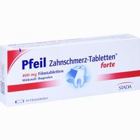 Pfeil Zahnschmerz-tabletten Forte  Filmtabletten 10 Stück