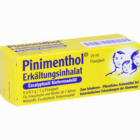 Pinimenthol Erkältungsinhalat Mit Eucalyptusöl Und Kiefernnadelöl Fluid 10 ml