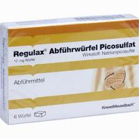 Abbildung von Regulax Abführwürfel Picosulfat 6 Stück