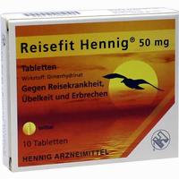 Reisefit Hennig Tabletten 10 Stück