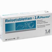 Abbildung von Reisetabletten- 1 A Pharma  20 Stück