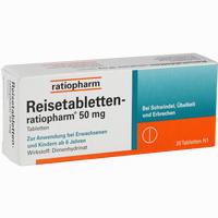 Reisetabletten Ratiopharm 20 Stück