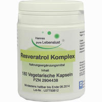 Resveratrol Komplex Vegi Kapseln   180 Stück