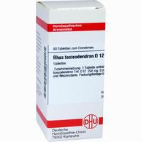 Rhus Toxicodendron D12  Tabletten 80 ST
