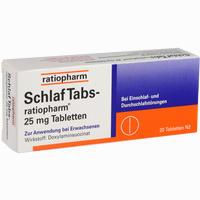 Schlaf Tabs-ratiopharm 25mg Tabletten   20 ST